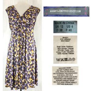 BODEN Limited Edition Surplice V Silk Jersey Dress